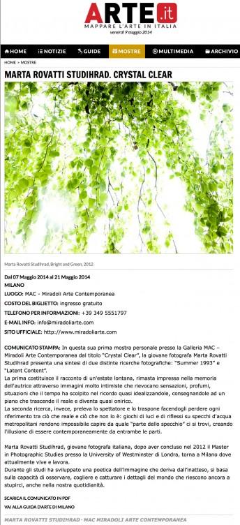 Arte.it$$http://www.arte.it/calendario-arte/milano/mostra-marta-rovatti-studihrad-crystal-clear-8167