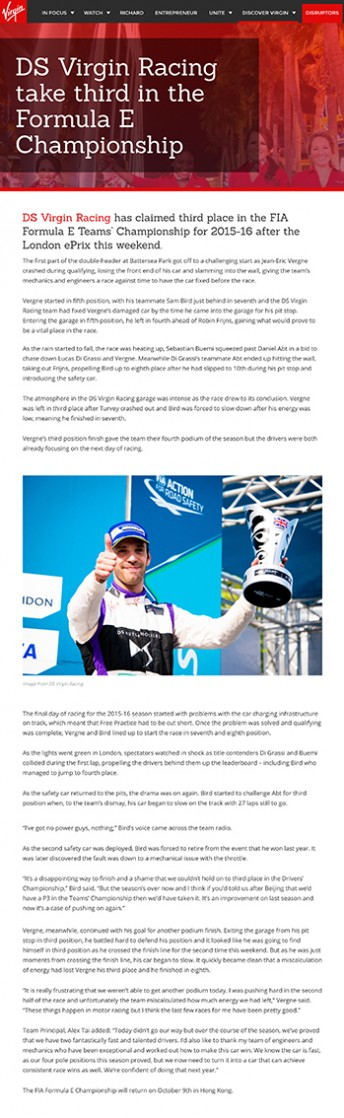 DS Virgin Racing $$ https://www.virgin.com/news/ds-virgin-racing-take-third-formula-e-championship