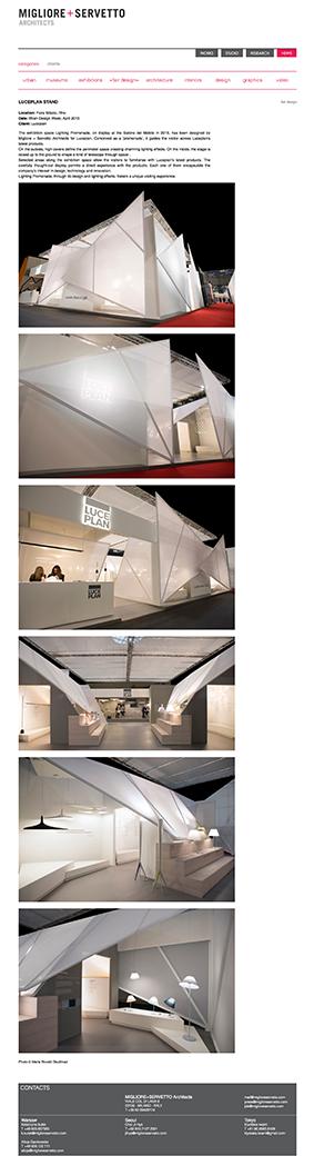 Migliore+Servetto $$ http://architettimiglioreservetto.it/luceplan-sdm-2015/